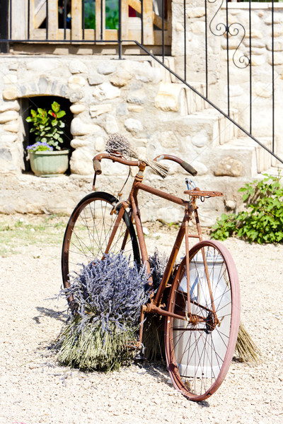 bicycle, Provence, France Stock photo © phbcz