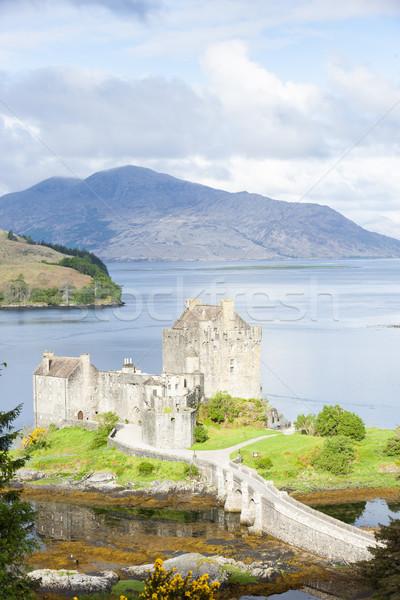 Zamek Szkocji góry architektury Europie historii Zdjęcia stock © phbcz