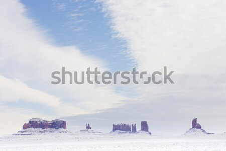 Monument Valley National Park in winter, Utah-Arizona, USA Stock photo © phbcz