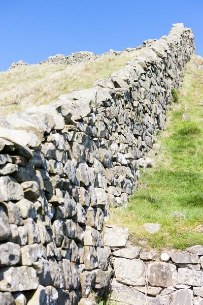 Muur Engeland reizen architectuur Europa ruines Stockfoto © phbcz