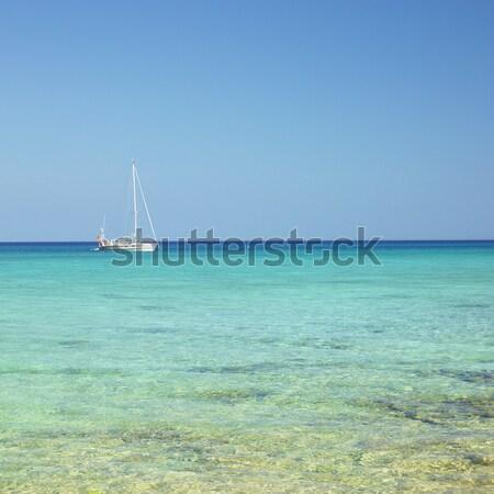 yacht, Caribbean Sea, Mar Stock photo © phbcz