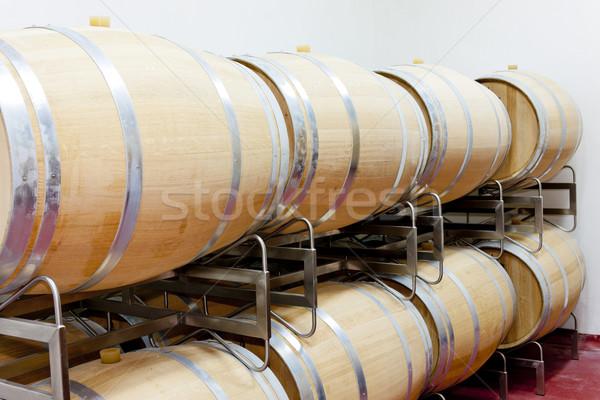 Winery цистерна баррель внутри Сток-фото © phbcz