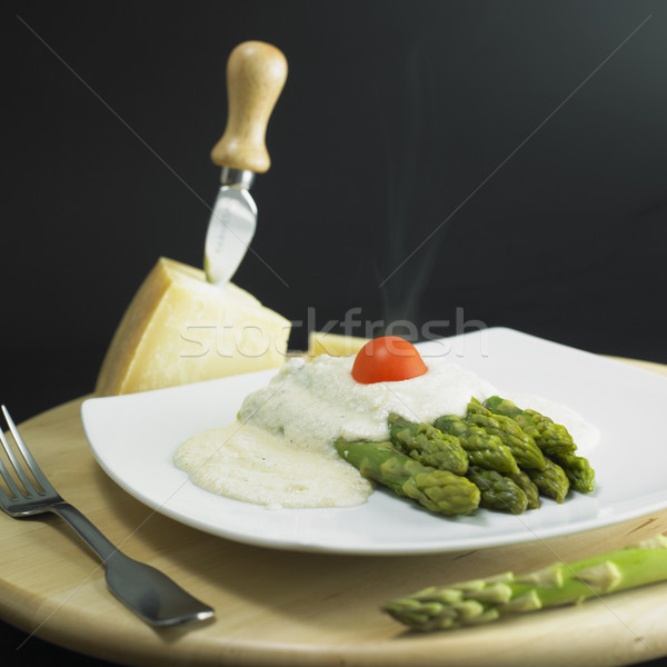 綠色 巴馬 醬 食品 奶酪 蔬菜 商業照片 © phbcz