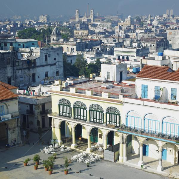 Plaza Vieja, Old Havana, Cuba Stock photo © phbcz