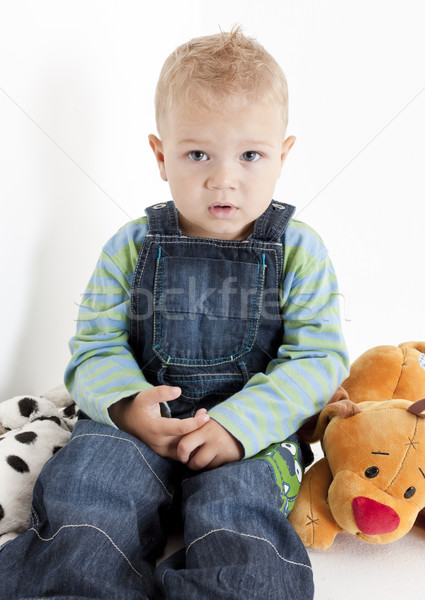 ül kisgyerek játékok gyerekek gyermek fiú Stock fotó © phbcz