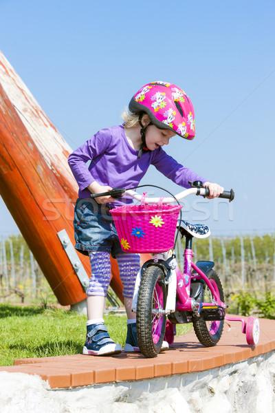 少女 スポーツ 子 自転車 ストックフォト © phbcz