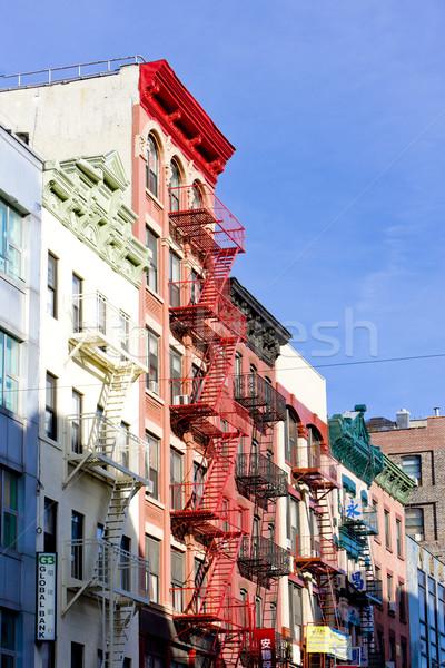 Kína város New York USA épület Stock fotó © phbcz
