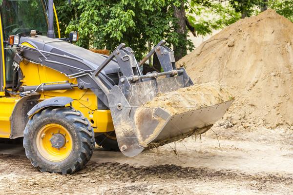 excavator at construction site Stock photo © phbcz