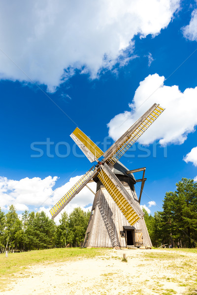 Stock photo: windmill, Kaszubski ethnographic park in Wdzydzki Park Krajobraz