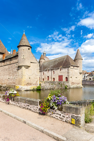 Chateau de la Clayette, Burgundy, France Stock photo © phbcz
