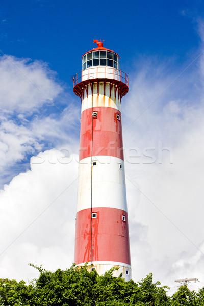 Dél pont világítótorony Barbados épület biztonság Stock fotó © phbcz