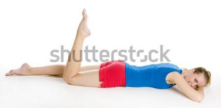 женщину фитнес спортивных молодые только Сток-фото © phbcz