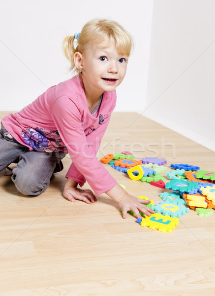 Stock photo: playing little girl