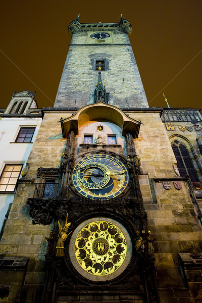 Horloge, Old Town Hall, Prague, Czech Republic Stock photo © phbcz