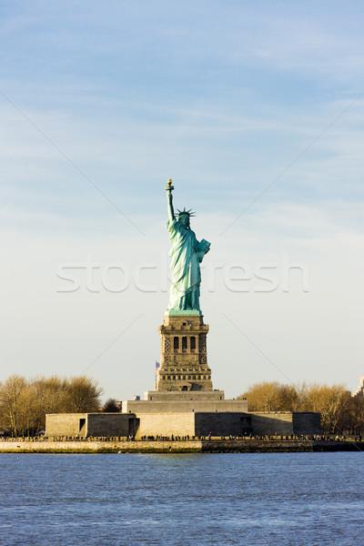 Liberty Island and Statue of Liberty, New York, USA Stock photo © phbcz