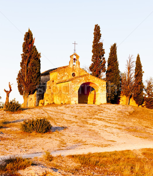 Küçük kilise Fransa kilise mimari Avrupa tarih Stok fotoğraf © phbcz