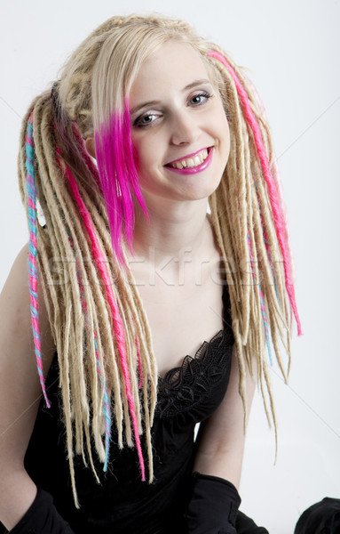 portrait of young woman with dreadlocks Stock photo © phbcz