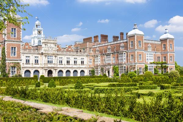 Maison Angleterre bâtiment jardin Voyage architecture Photo stock © phbcz