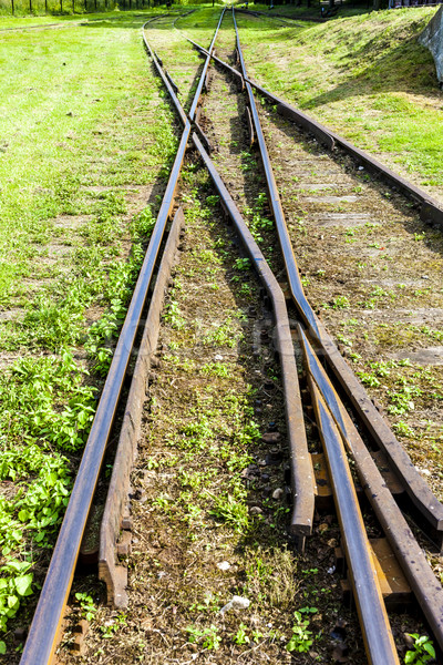 the crossing of normal and narrow gauge, Elk, Warmian-Masurian V Stock photo © phbcz