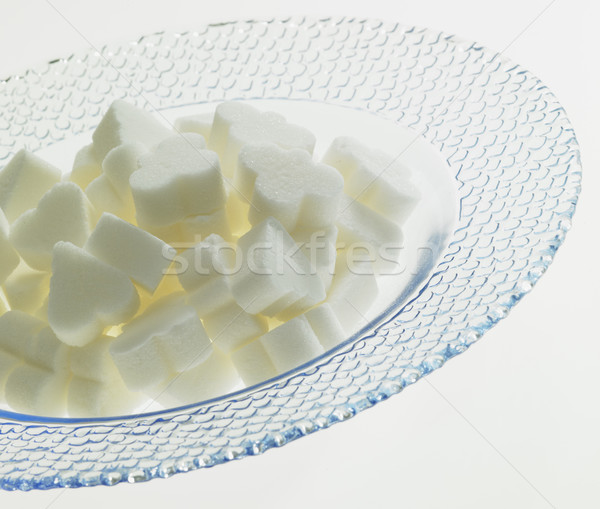 plate with sugar Stock photo © phbcz