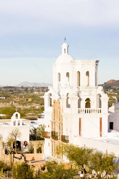 Misión Arizona EUA iglesia arquitectura religión Foto stock © phbcz