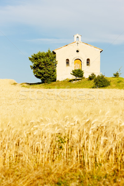 Chapelle grain domaine plateau France bâtiment Photo stock © phbcz