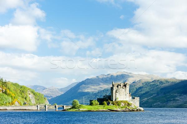 Castillo Escocia viaje montanas lago arquitectura Foto stock © phbcz