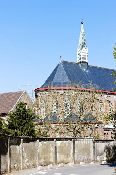 Gatos abadia França edifício arquitetura ao ar livre Foto stock © phbcz