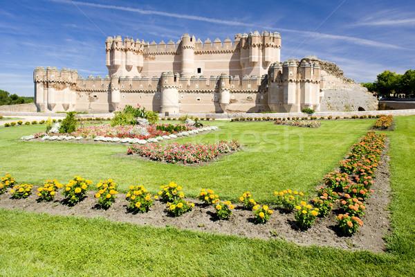 Coca Castle, Segovia Province, Castile and Leon, Spain Stock photo © phbcz