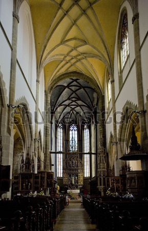 interior of Cathedral Notre Dame, Reims, Champagne, France Stock photo © phbcz