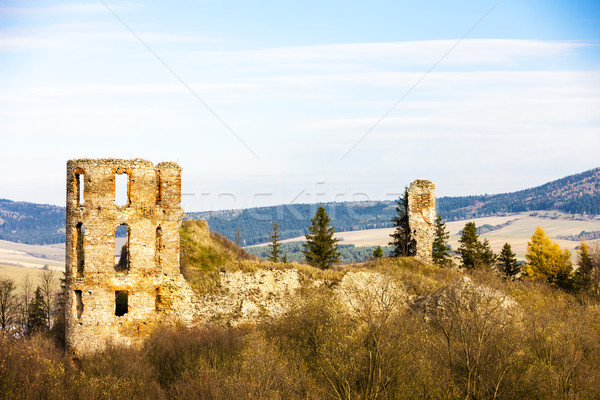 ruins of Plavec Castle, Slovakia Stock photo © phbcz
