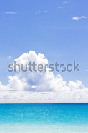 Foto stock: Caribbean · mar · Barbados · nuvens · paisagem · nuvem