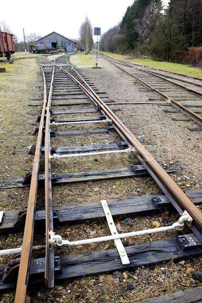 Demiryolu Fransa taşıma izlemek açık nokta Stok fotoğraf © phbcz