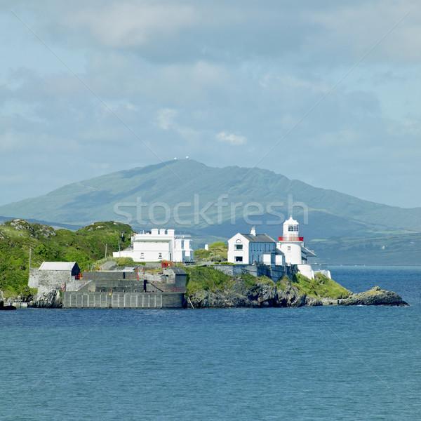 Farol espanhol ponto cortiça Irlanda edifício Foto stock © phbcz