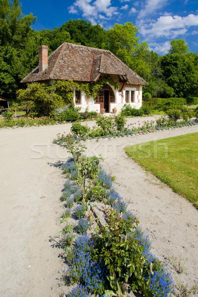 garden of Chateau du Moulin, Lassay-sur-Croisne, Centre, France Stock photo © phbcz