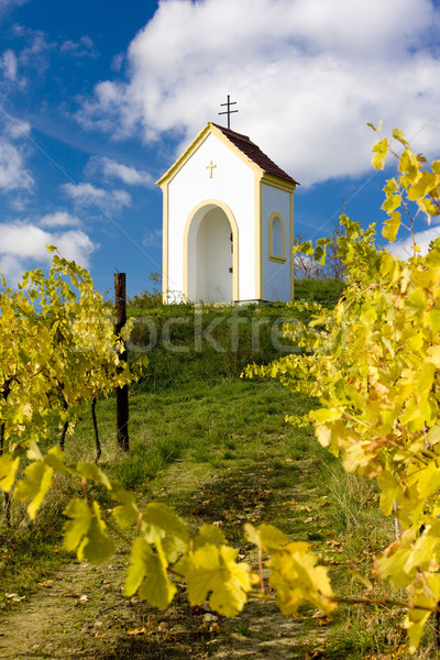 Stock photo: chapel near Hnanice, Znojmo Region, Czech Republic