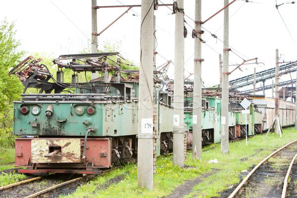 Elektrische Servië motor buitenshuis vervoer en Stockfoto © phbcz