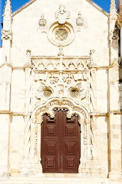 Templom Portugália ajtó építészet történelem kint Stock fotó © phbcz