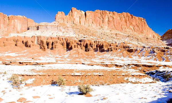 Parku zimą Utah USA krajobraz śniegu Zdjęcia stock © phbcz