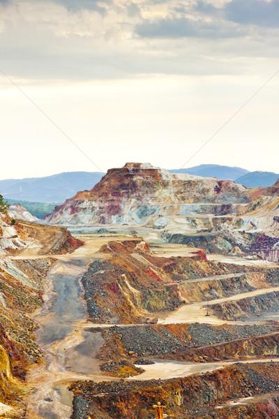 Miedź kopalni Hiszpania krajobraz schodów Zdjęcia stock © phbcz