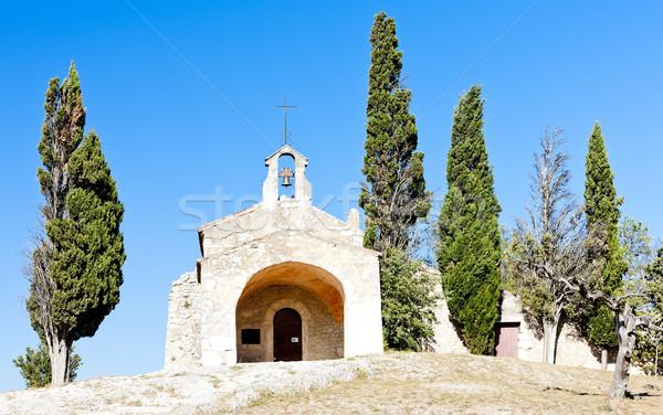 Chapel St. Sixte near Eygalieres, Provence, France Stock photo © phbcz