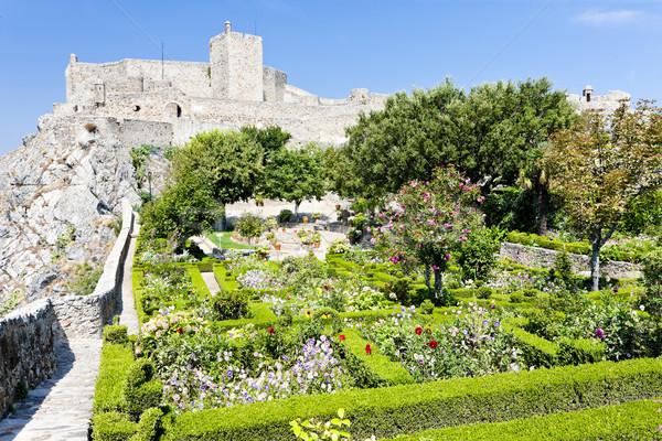 Château Portugal bâtiment jardin Voyage architecture Photo stock © phbcz
