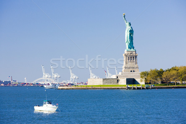Vrijheid eiland standbeeld New York USA boot Stockfoto © phbcz