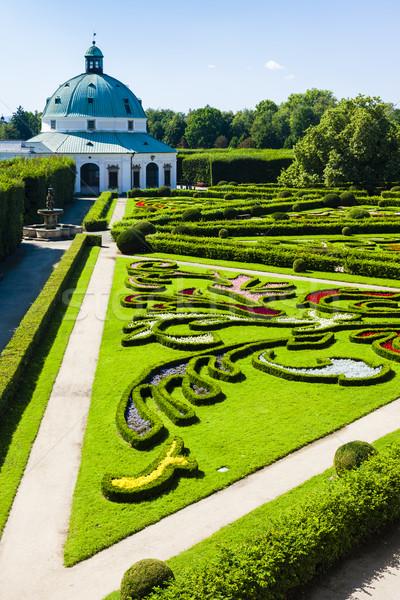 Stock photo: Flower garden of Kromeriz Palace, Czech Republic