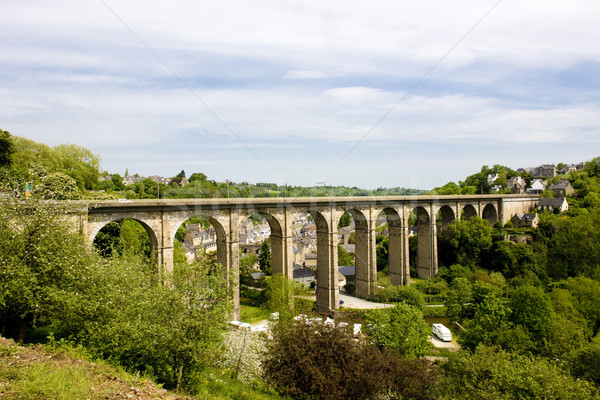 road viaduct, Dinan, Brittany, France Stock photo © phbcz
