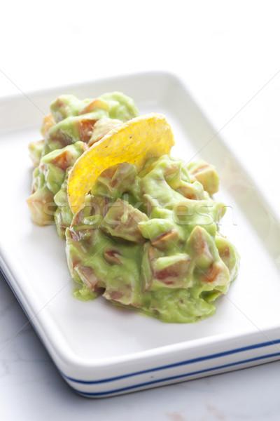 Pomodoro avocado insalata piatto pasto sani Foto d'archivio © phbcz