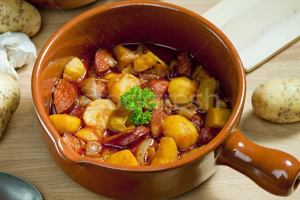 potato and sausage goulash Stock photo © phbcz