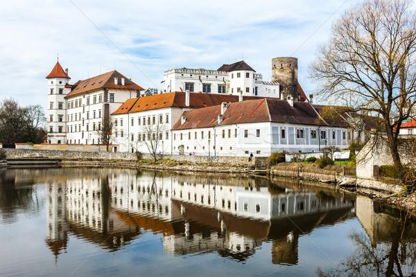 Kasteel paleis Tsjechische Republiek water reizen architectuur Stockfoto © phbcz