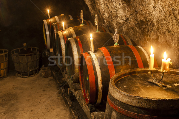 wine cellar in Velka Trna, Tokaj wine region, Slovakia Stock photo © phbcz