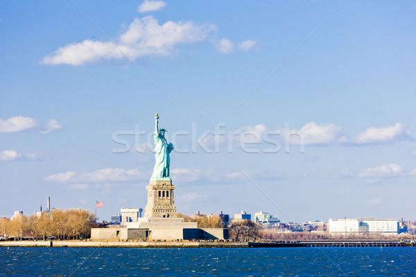 свободы острове статуя Нью-Йорк США Сток-фото © phbcz